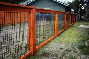 this fence is a combo of different materials and is not limited to you see in the picture it can be built with no climb wire fabric beef panels hog