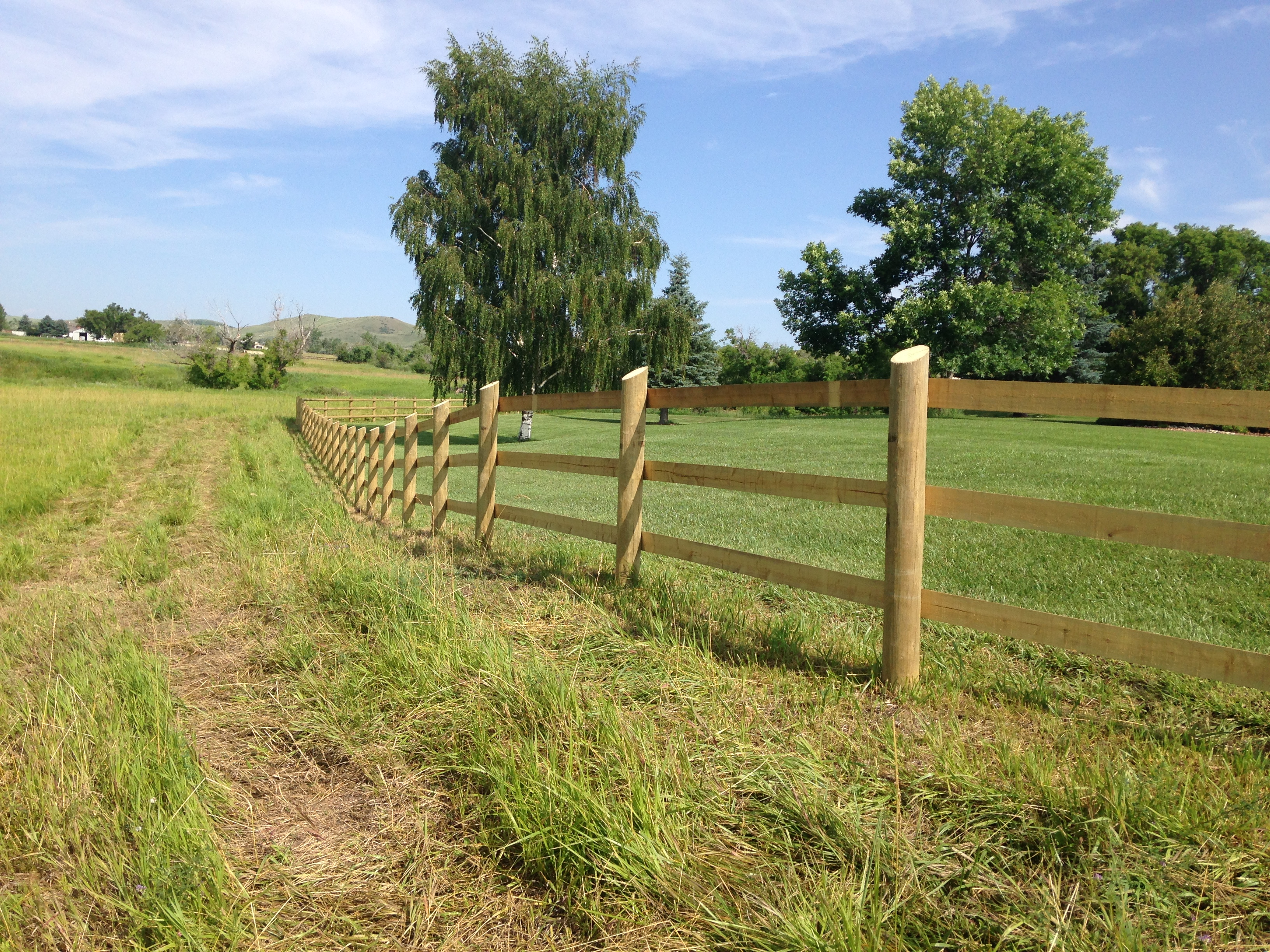 Post And Pole Fencing : Wood fence bockman group