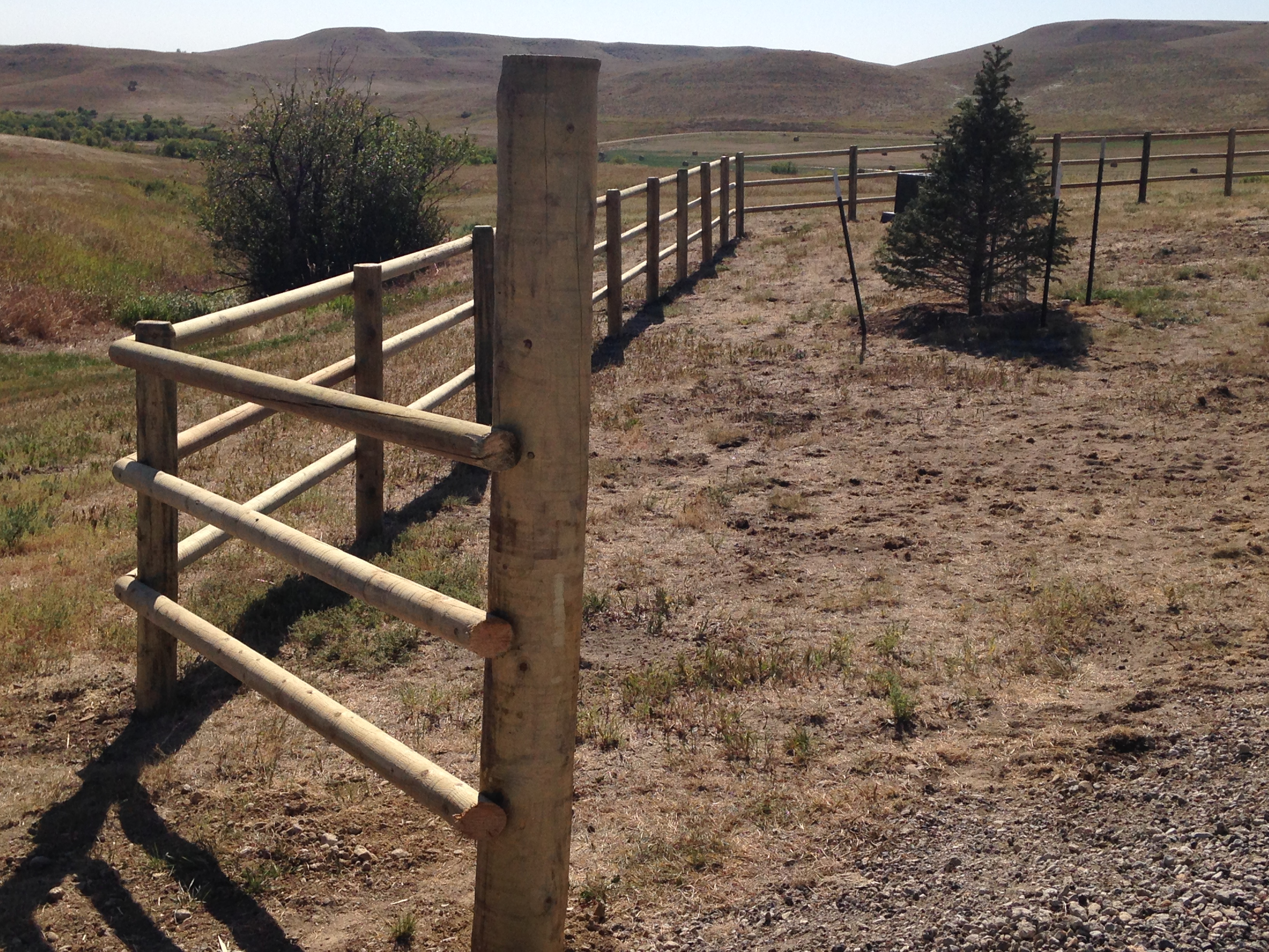Post And Pole Fencing : Fence installation bockman group part
